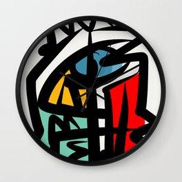 Street art abstract portrait pop Wall Clock