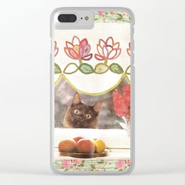 Food Plz handcut collage Clear iPhone Case