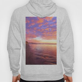 Life's a Beach, A Pink Beach by Reay of Light Photography Hoody