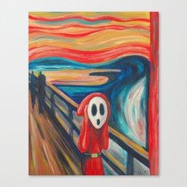 The Scream Shy Guy Canvas Print