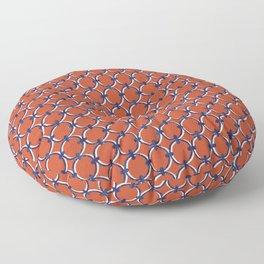 Classic Circles Orange and Navy Floor Pillow