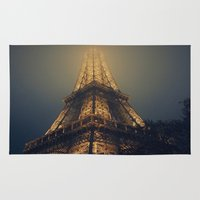 eiffel tower Area & Throw Rugs featuring Eiffel Tower  by cchelle135