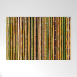 Bamboo fence, texture Welcome Mat