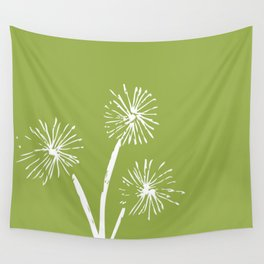 Three Dandelions Wall Tapestry