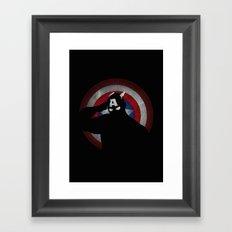 SuperHeroes Shadows : Captain America Framed Art Print