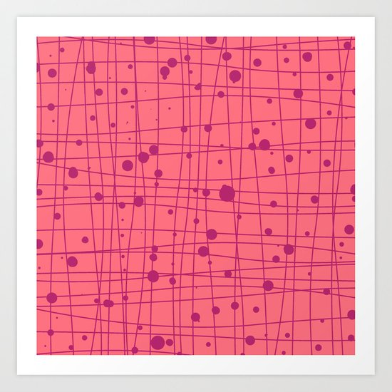 Woven Web pink Art Print