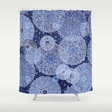 Blue Mandala Mix Shower Curtain