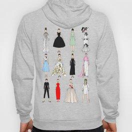 Audrey Fashion Vintage Retro in Cream Hoody