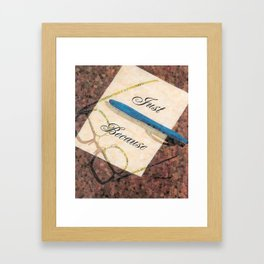"""Just Because"" Framed Art Print"
