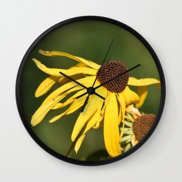 Yellow Whispers Wall Clock