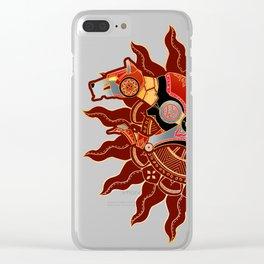 Red Lion Batik Clear iPhone Case