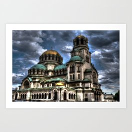 Alexander Nevski Cathedral , Sofia , Bulgaria- HDR photo Art Print