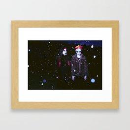 Evening Snow. Framed Art Print