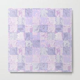 Purple woodcuts Metal Print