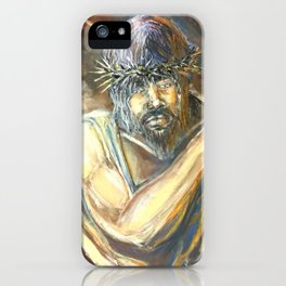 """"""" I AM for You""""  Pastel Painting by Christopher Hagens iPhone Case"""