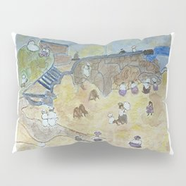A day off at the beach - 1800s  Pillow Sham