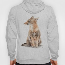 Fox Watercolor Hoody