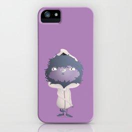 Hooded Furball Monster iPhone Case