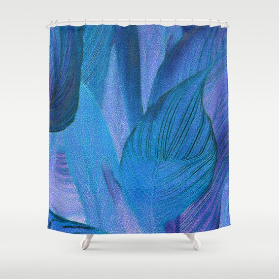 Exotic Leaves With Translucent Floral Pattern Shower Curtain By Klara Acel Society6