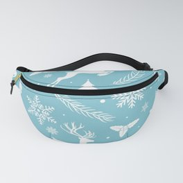 Pattern Blue Christmas Fanny Pack