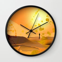 Alone ion the Desert Wall Clock
