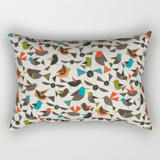just birds china white Rectangular Pillow