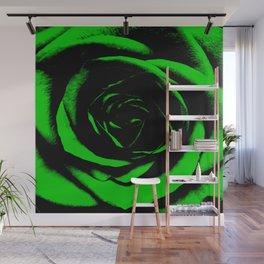 Green Rose : Pretty Flowers Wall Mural
