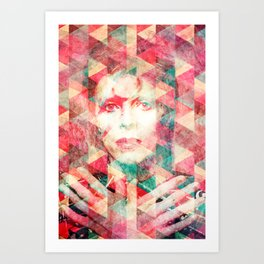 Bowie abstraction Art Print