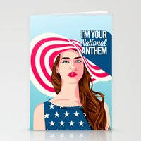 the national Stationery Cards featuring National Anthem by Stan Pro