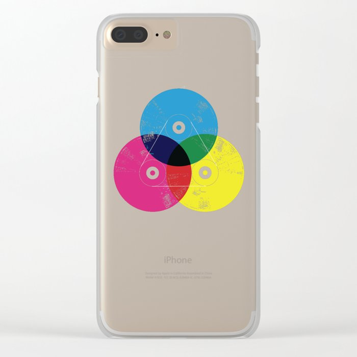 Music is the colors of life Clear iPhone Case