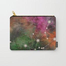 Watercolor Zodiac Aquarius Galaxy Carry-All Pouch