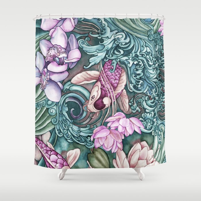 Splash Shower Curtain By Vikkisalmela