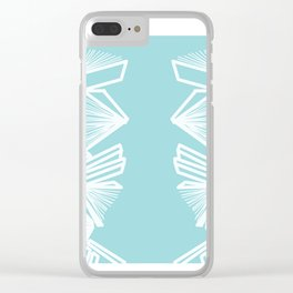 Bookworm - Blue Clear iPhone Case