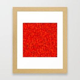 popped fire Framed Art Print