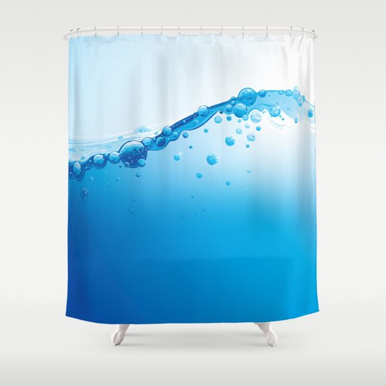 Full of Water Shower Curtain