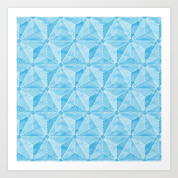 Geodesic Palm_Blue Sky Art Print