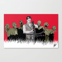 daryl dixon Canvas Prints featuring Daryl Dixon by ArtisticCole