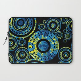 Authentic Aboriginal Art - Circles Laptop Sleeve
