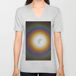 Full moon halo Unisex V-Neck