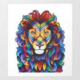Mufasa in Technicolour Art Print