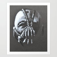 bane Art Prints featuring BANE by Lady Gabe