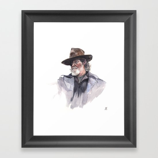 Jeff Bridges (Rooster Cogburn) Framed Art Print