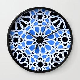 Moroccan Zellige pattern Wall Clock