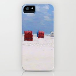 The storm has gone iPhone Case