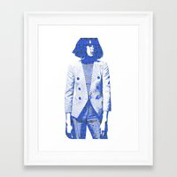 suit Framed Art Prints featuring Suit by fashionistheonlycure