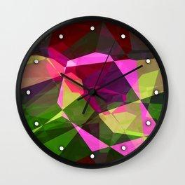 Rosas Moradas 1 Abstract Polygons 2 Wall Clock