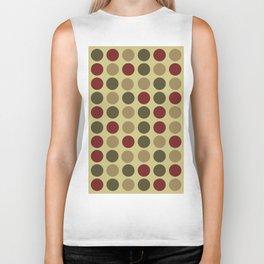polka dots in green and maroon Biker Tank