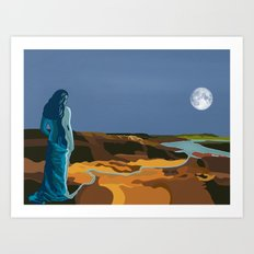 Woman Into Water, Water Into Woman Art Print