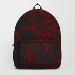 Original Marble Texture - Black Fire Backpack