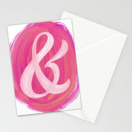 Thick Swirl Ampersand Warm Stationery Cards